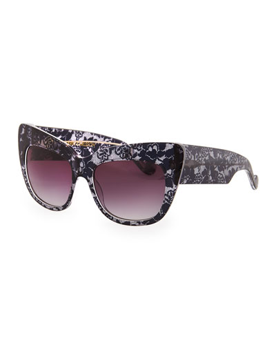 Anna-Karin Karlsson Alice Goes to Cannes Lace-Print Sunglasses