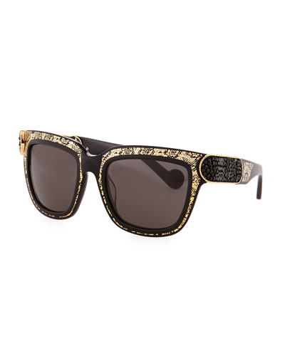 Anna-Karin Karlsson Opulence Sunglasses, Gold/Black