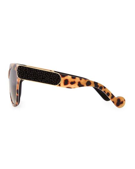 Opulence Leopard-Print Sunglasses