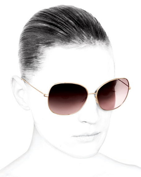 Isabel Marant par Oliver Peoples Daria 62 Oversized Sunglasses, Rose Gold/Pink