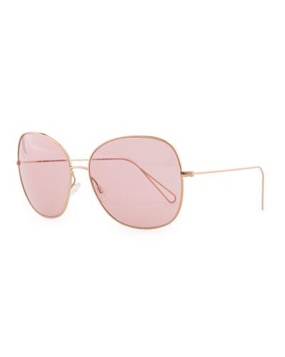 Oliver Peoples Isabel Marant par Oliver Peoples Daria 62 Oversized Sunglasses, Rose Gold/Pink