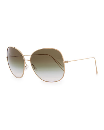 Isabel Marant par Oliver Peoples Daria 62 Oversized Sunglasses, Light Gold/Olive