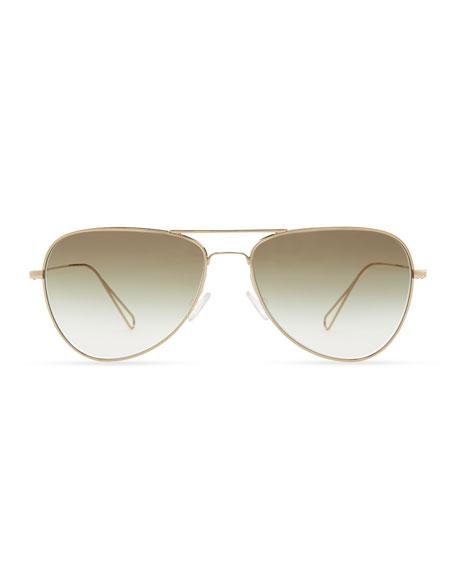 Isabel Marant par Oliver Peoples Matt 60 Aviator Sunglasses, Light Gold/Olive