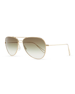 Oliver Peoples Isabel Marant par Oliver Peoples Matt 60 Aviator Sunglasses, Light Gold/Olive