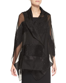 Giorgio Armani Burnout Evening Stole, Black