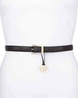 MICHAEL Michael Kors  20mm Leather Belt