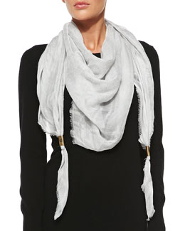 Gucci Trigon Acantha Scarf, Off White