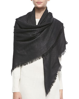 Gucci Cormond Shawl, Black/Gray