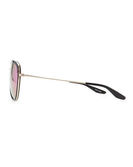 Rio Aviator Sunglasses, Black/Multi
