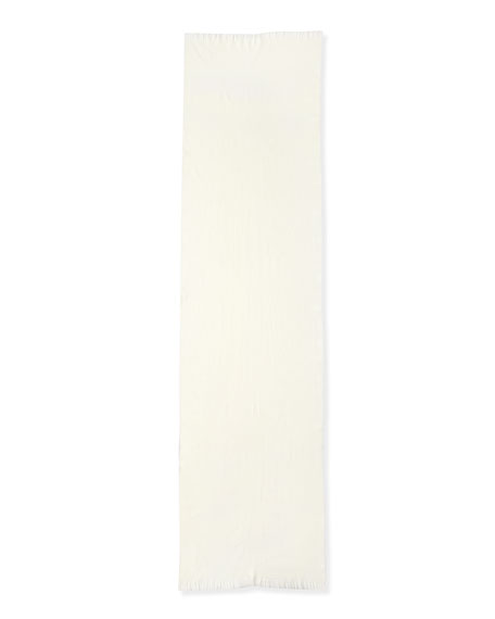 GG Logo Wool Scarf, White