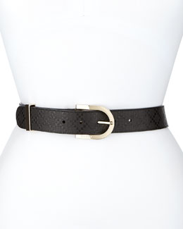 Gucci Leather G Belt, Black