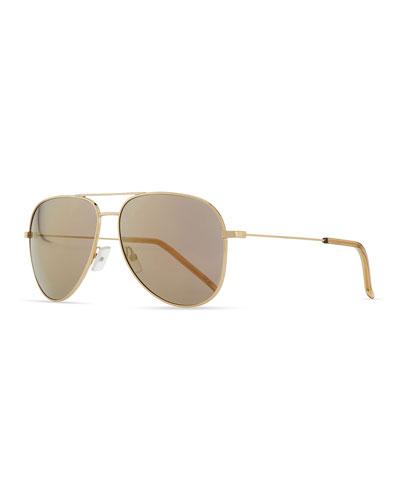 Saint Laurent Classic Rose Golden Aviator Sunglasses