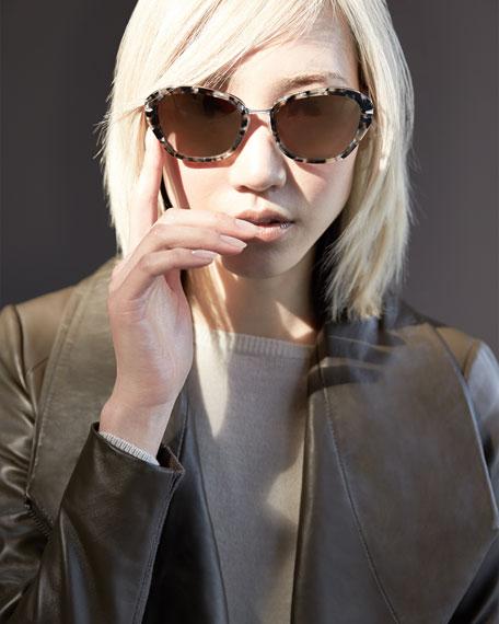 Barton Perreira Universal Fit Farro Marble Butterfly Sunglasses