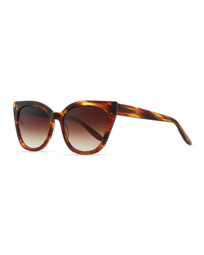 Barton Perreira Shirelle Cat-Eye Sunglasses, Banyan Tortoise