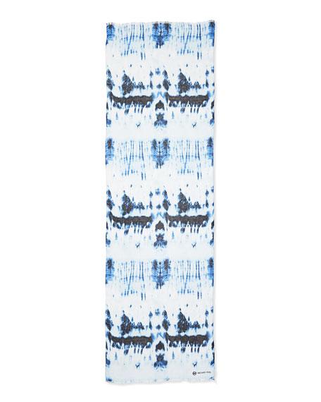 Tie-Dye Fringe-Trim Scarf