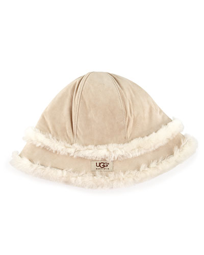 UGG Australia City Bucket Hat with Shearling, Sand
