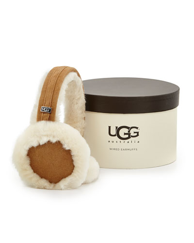 Ugg Australia Headphone Wired Ear Muffs, Chestnut