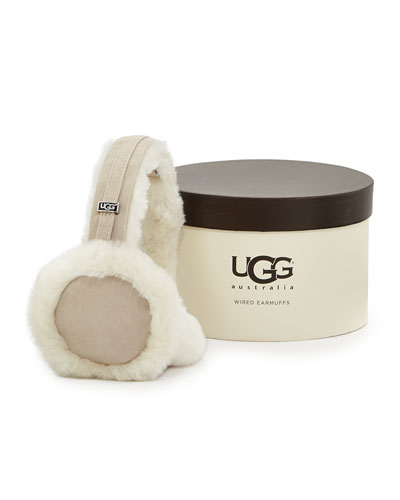 Ugg Australia Headphone Wired Ear Muffs, Sand