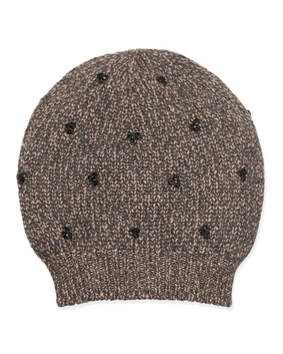 Brunello Cucinelli Sequin-Cluster Knit Hat