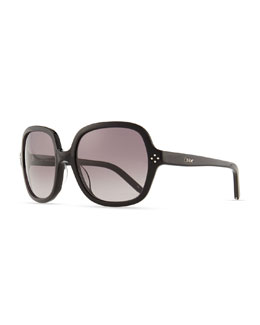 Chloe Boxwood Square Sunglasses, Black