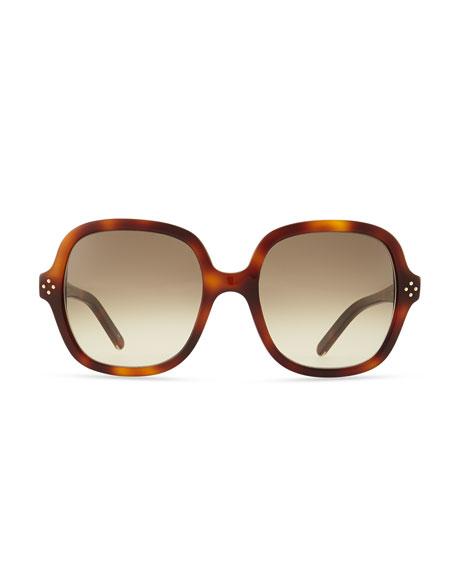 Boxwood Square Sunglasses, Havana