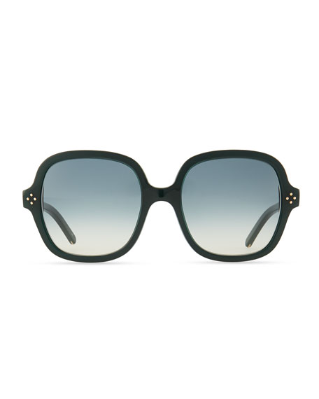 Boxwood Square Sunglasses, Green