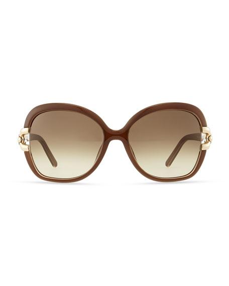 Brunelle Square Sunglasses, Turtledove