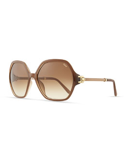 Chloe Marcie Oversized Sunglasses, Turtledove