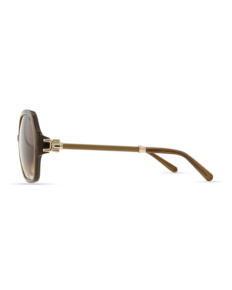 Marcie Oversized Sunglasses, Khaki