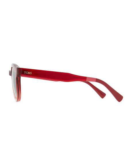 Bellevue Rounded Ombre Sunglasses, Red/Pink