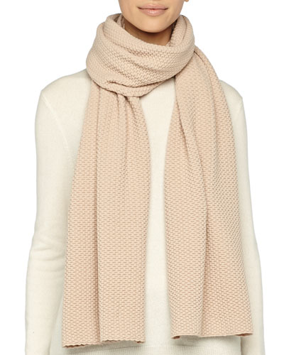 Marc Jacobs Textured Knit Scarf, Camel