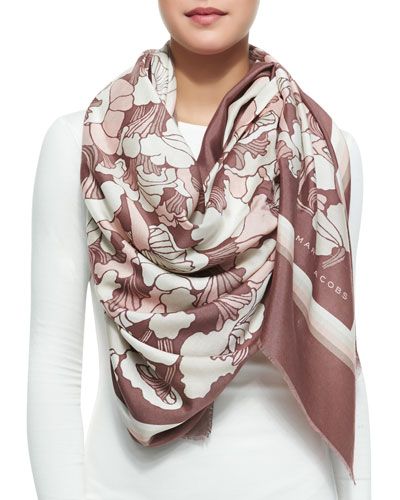 Marc Jacobs Forest Printed Scarf, Cocoa/Multi