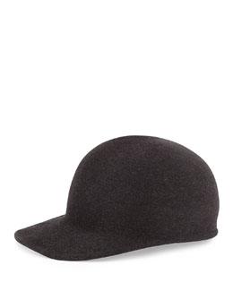 Joey Wool Cap Hat, Charcoal