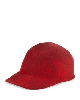Joey Wool Cap Hat, Red Marble