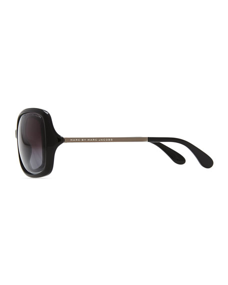 Plastic Butterfly Sunglasses, Black