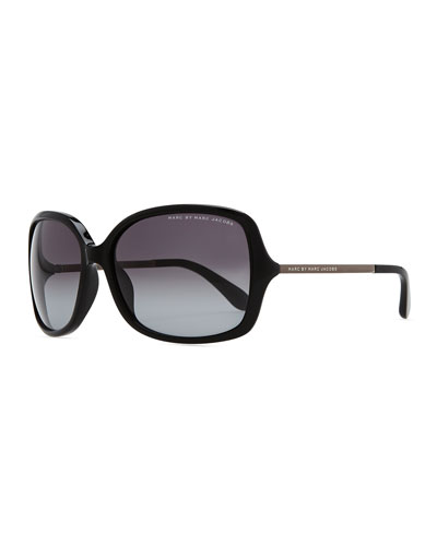 MARC by Marc Jacobs Plastic Butterfly Sunglasses, Black