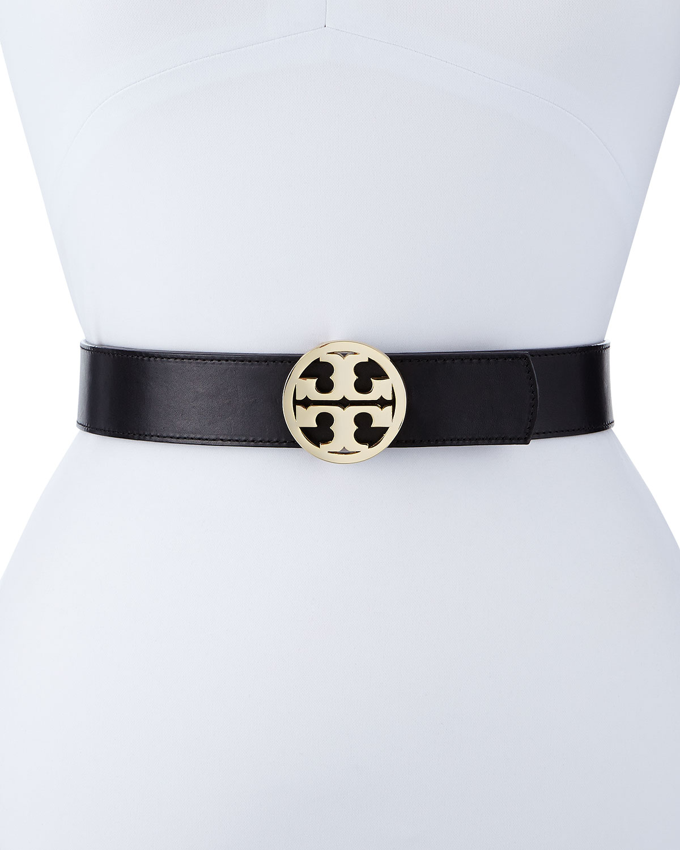 e12a8986185 Tory Burch Reversible Classic Logo Leather Belt