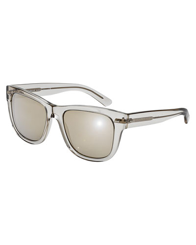 Clear Rectangle Sunglasses, Gray