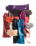 Cashmere-Lined Leather Gloves, Red