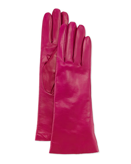 Cashmere-Lined Leather Gloves, Clover