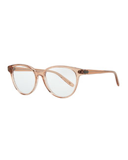Bottega Veneta Rounded Acetate Fashion Glasses, Rust