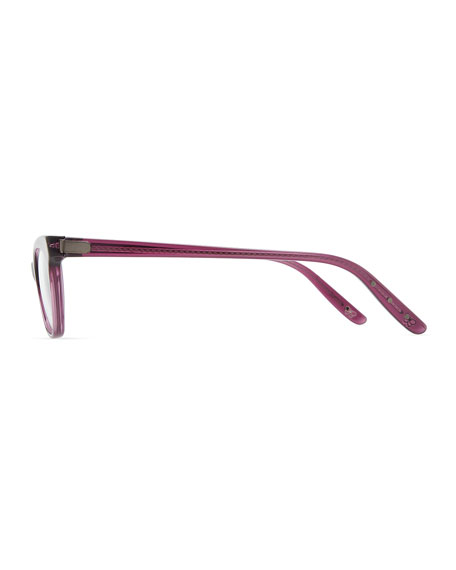 Cat-Eye Acetate Fashion Glasses, Cyclamen