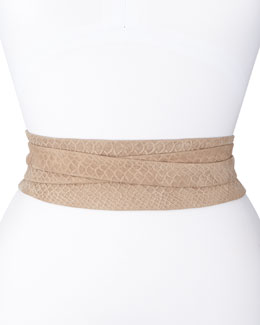 ADA Collection Python-Print Wrap Belt