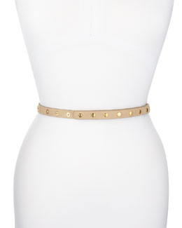 ADA Collection Cala Snap-Stud Wrap-Around Belt, Latte