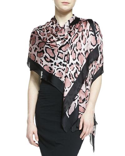 Gucci Lynn Leopard-Print Silk Stole