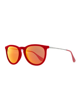 Ray-Ban Erika Velvet Edition Sunglasses, Poppy Red