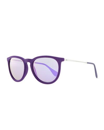 Ray-Ban Erika Velvet Edition Sunglasses, Violet