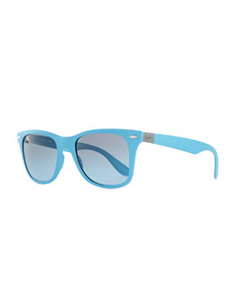 Ray-Ban Liteforce Tech Wayfarer Sunglasses, Light Blue