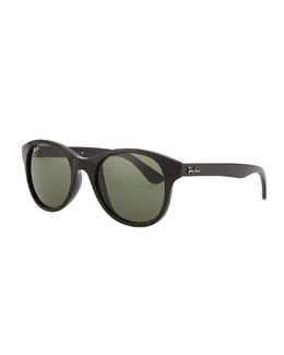 Ray-Ban Round Acetate Sunglasses, Black/Green
