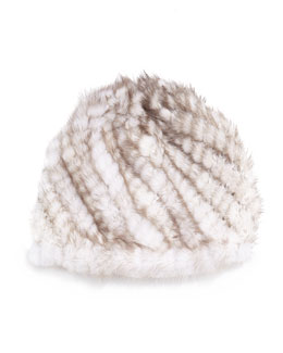 Mink Fur Tails Hat, Sunlight